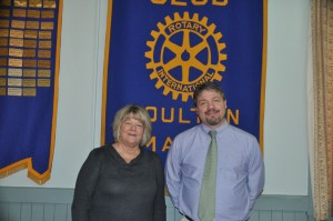 Mike Hammer, RSU 29 Superintendent with President Lori Weston