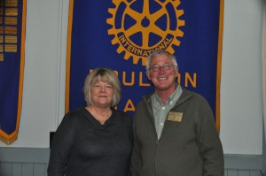 President Lori Weston with the Rotary District 7810 Assistant Governor Terry Thomas